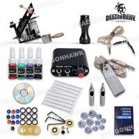 Wholesale Beginner Complete Tattoo Kit Machine Guns Inks Needles grips tips Tattoo Power Supply SMT25