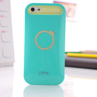 Wholesale For iphone inch Plus Hybrid I glow Hard Case Cover Luminous Fashion Stand For iphone6 quot With Retail pakage