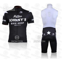 Cheap Johnny's Bike Shop Cycling Jerseys Anti Bacterial High Quality Cycling Jersey Set Cheap Fall Cycling Suit(Jersey + Padded Shorts)