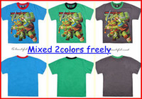 Wholesale hot sale New fashion baby teenage mutant ninja turtles tees boys Cotton cartoon tops t shirt colors choose for T melee