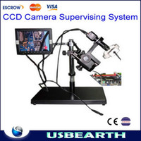 Wholesale LY CCD camera Supervising system Video Microscope with monitor For BGA Process Observing