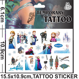 Wholesale In Stock cmx10 cm Children s Day Gift Frozen Elsa Anna Body Tatoo Snow Queen Kids Cartoon Tatoos Temporary Tattoos Stickers