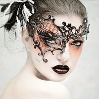 Wholesale New Cutout Eye Mask Lace Sexy Prom Party Halloween Masquerade Dance Mask Upper half face mask