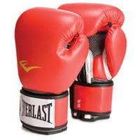 Wholesale EVERLAST Mufflers Boxing Gloves MMA Fight Mittens Training Kickboxing Mitts PU Leather Breathable Muffler Men Women Drop Ship