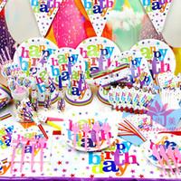 Wholesale Happy Birthday Kids Birthday Party Decoration Set Birthday HAPPY BIRTHDAY Theme Party Supplies