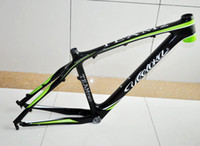 Wholesale 2014 New Arrival VEETOKA TEAM2 Full Carbon Bike Frames MTB Frame er inch Montain Bicycle Frame Black and Green Color Carbon Frame