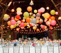 """Cheap 12"""" 30cm Chinese Paper Lanterns With LED Lights Shiny Christmas Ornaments Lantern For Wedding Party Decoration Supplies Mixed Color"""