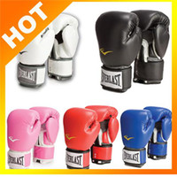 Wholesale EVERLAST Boxing Gloves MMA Fight Mittens Training Kickboxing Mitts Men Women Sanda Gloves Drop Ship