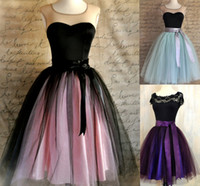 Wholesale Factory Two tone Layers Princess Tutu tulle Skirt Adult Ball Gown Bridesmaid Birthday Party Dress Length cm Drop Shipping
