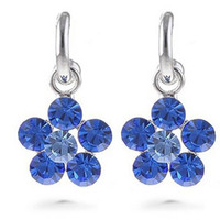 Wholesale two color crystal flower lady s earings cm xgspc