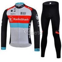 Wholesale RadioShack Team Cycling Jerseys Anti Bacterial High Quality Bike Jersey Set Long Sleeves Autumn Cycling Suit Cycling Top Padded Pants