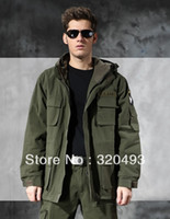 air force hoods - US ARMY AIR FORCE Jacket winter thermal trench with hood outdoor thick fleece lining military jacket