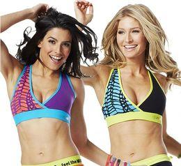 Wholesale woman Bra tops cut me crazy V Bra Racerback yoga clothes purple green