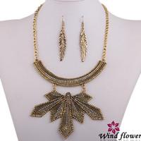 Cheap Earrings & Necklace 2014 Statement Jewelry Best Zinc Alloy Alloy Jewelry Set