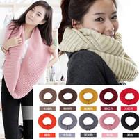 Wholesale Snood Scarves Neck Cotton Winter Crochet Oversized Christmas scarf Men Big Square Knit Warm Scarf Wrap A600
