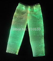 2016 newest men's trousers spring   autumn men's casual pants LED trousers Luminous clothes unique design pants fiber optic