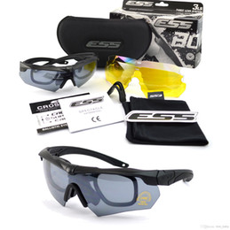 Wholesale Ess Crossbow Outdoor Sports Army Bullet proof Goggles Sunglasses Eyewear Lens Special Forces Tactical Goggles Glasses