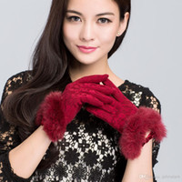 Wholesale Winter gloves custom glove wool material glove for girls gloves ladies gloves fingered glove six colors for not leather gloves