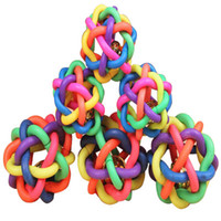 Wholesale Pet rubber Braided Rope ball chew knot toy dog cat toy for puppy medium large big dog