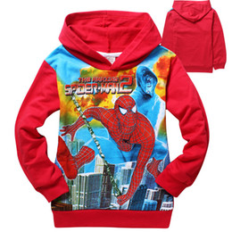 Wholesale Retail New Children Clothing Outerwear baby boys cotton cartoon Spiderman hoodie jackets kids long sleeve tops