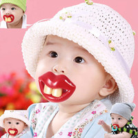 Wholesale 1 Baby Funny Dummy Prank Pacifier Novelty Teeth Children Child Soother Nipple