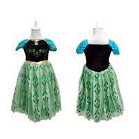 Frozen Dress Elsa Anna For Girl Princess Cosplay Party Dress...
