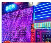 Wholesale LED lights m m Curtain Lights Christmas ornament light Flash LED Colored lights