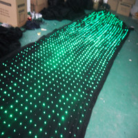 Wholesale P9 M M Led Vision Curtain with PC Mode Fireproof Type Wedding Stage Backdrop Light Curtain Led Moving Cloth