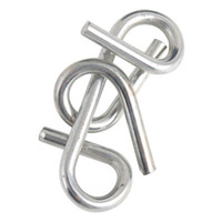 Wholesale 1Packs Sets Metal Ring Puzzle IQ Brain Teaser Test Toy Gift Educational