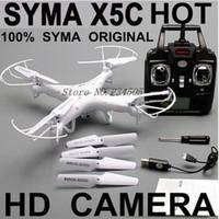 TOP Qualité !! SYMA X5C 100% d'Origine 2,4 G 4CH 6 Axes de Contrôle à Distance d'Hélicoptère RC Quadricoptère Jouets Ar Drone.Drone Avec une Caméra HD