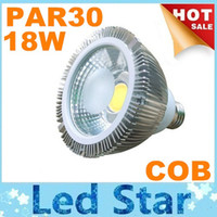 Wholesale 18W COB PAR30 Led Spot Downlights E27 E26 GU10 Dimmable Led Bulbs Light Warm Cool White lm AC V Warranty Years CSA UL FCC