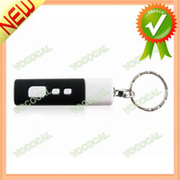 Cheap Wholesale-Black Portable Mini LED Projector Digital Clock Keychain Key Ring