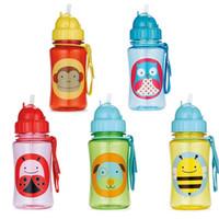 Wholesale Hot sell Chokecherry Children Cartoon Animal Straw Cup baby Water Bottle Drinking Cup Leak Proof Sports Bottles