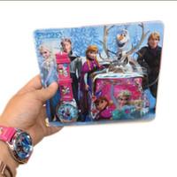 Frozen Anna Elsa Sets Frozen Watch and frozen Wallet Purse K...