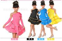 Girls Latin Dance salsa clothes Exercises Clothes Cake Skirt Children