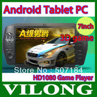 Wholesale New GB Handheld Game Player Android OS with inch touch LCD Tablet PC WIFI Games Skype Function Full touch Screen