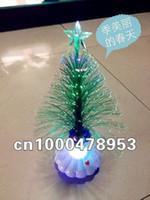 Wholesale S12pcs Christmas tree Christmas hat Fiber Flowers fiber optic lights fibrils flowers