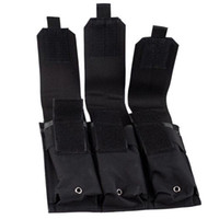 ar magazine pouch - Molle Tactical Triple M4 mm Mag Magazine Pouch Bag For Pistol Handgun AR Black OT0001