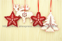 Wholesale Hot Sale Export Quality Christmas Pine tree Snow Christmas Flower felt ornament christmas gift