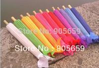 Wholesale Handmade Cloth Umbrella Inches Solid Color Sunshade Bridal Wedding Parasols