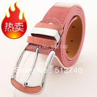 Wholesale Pigskin Velvet Women s Strap All Match Belt Female Pin Buckle Decoration Belt And Retail