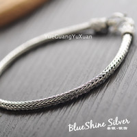 personalized ornaments - 925 sterling silver jewelry vintage Thai silver braided bracelet Korean men wild personalized jewelry ornament accessories
