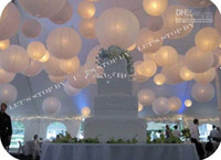 Wholesale Mix Styles Chinese White Paper Lanterns with LED lights for Wedding Party Halloween Christmas Decoration