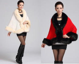 Wholesale New winter Women sexy faux fur coat casual fashion elegant Plus size Thicken poncho cape jacket
