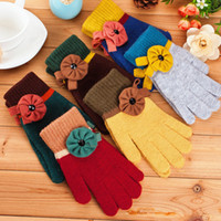 Wholesale 2014 New Pure Sunflower Ms fingers thick warm winter gloves knitted gloves