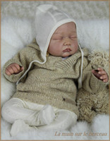 Cheap Wholesale-Lifelike soft silicone vinyl reborn doll kits baby doll parts head arms and legs suit for make 22 inches newborn babies