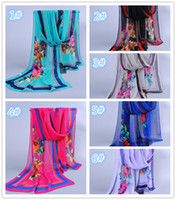 Wholesale New designer Fashion Women Scarves Long Voile hijab muslim scarf tribal aztec Shawl plated rose