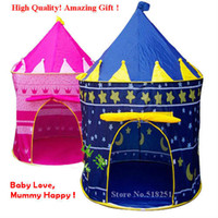 Cheap Ultralarge Children Beach Tent, Baby Toy Play Game House, Kids Princess Prince Castle Indoor Outdoor Tents Children's day gift