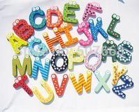 magnetic alphabet - wood alphabet fridge magnets novelty magnetic alphabet kids magnets for refrigerator Good for kids