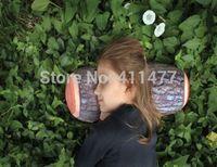 Wholesale Microbead Log Pillow Head And Neck Support Sleep Like A Log Green Log Pillow
